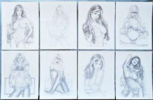 "Sexy Women of Marvel Art print posters 8.5"" x 11"" Phoenix Rogue Black Cat Frost"