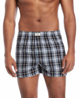 Lucky Brand  3 Woven Boxers X-Large 40-42  Assorted Blues  -1398