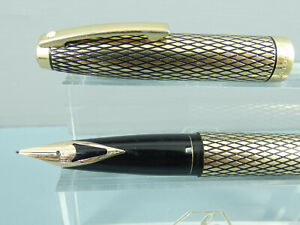 Vintage Sheaffer Imperial Sovereign Diamond Cut Fountain Pen,M 14K Nib,Box *MINT