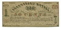 1862, 50 Cents Greensboro Mutual, Carolina Note - CIVIL WAR Era, Banknotes