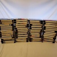 52 Pre-Recorded VHS VCR Tapes - Sold As Used Blank/Record - unknown content