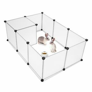 Durable Portable Pet Playpen Puppy Dog Fences Gate Indoor Outdoor Fence Exercise