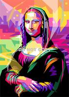 "MONA LISA POP ART LEONARDO DA VINCI A4 GLOSSY PHOTO REPRINT 11.75"" X 8.25"" PRINT"