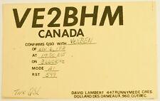 Vintage Dollard Des Ormeaux Quebec Canada QSL Card Amateur Radio 1971