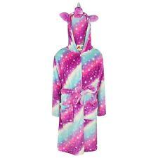Girls Pyjamas 3-7 Winter Fleece One Piece Jumpsuit Mint Green unicorn Pjs 816