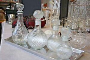 Glas Flaschen Karaffe Geschenk Klar 300ml - 1000ml abfüllen von Spirituosen Deko