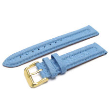 Apollo Watch Strap Band 20mm Lt Blue Ribbed Textile Canvas