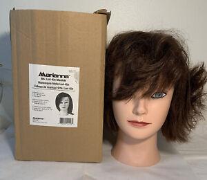 Halloween Head Prop Marianna Manniquin Head 100% Human Hair Color Level 4 Brown