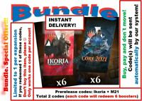 MTG Arena Code: 6 Boosters. Ikoria + Core Set 2021 M21 Prerelease INSTANT EMAIL