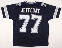 Dallas Cowboys Jim Jeffcoat Signed Football Jersey Autographed JSA COA Renegades
