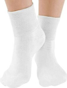 Buster Brown Women's Low Cut Ankle Socks, 100% Cotton, Elastic Free (6 pairs)