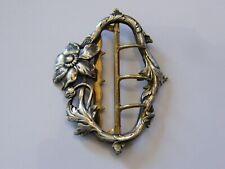 Boucle de Ceinture Art Nouveau en Argent Plaqué Silver Silber Jugendstil
