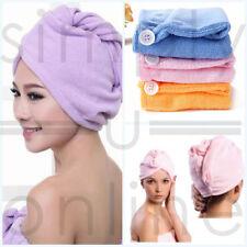 3 toallas de microfibra para secado de cabello turbie - Rosa Azul Amarillo