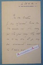 L.A.S 1910 Michel MISSOFFE Avocat Député Obsèques Duc de Chartres Brest Lettre