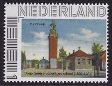 Persoonlijke postzegel: DORPSTOREN EN SCHOOL NIEUWKOOP Postfris  E-6310