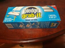Pledge Grab It Sweeper and 10 Dry Unscented Cloths[New]