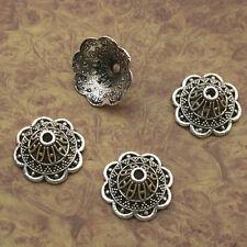 16pcs Tibetan silver flower bead cap findings X0146