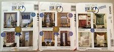 Lot of 3 McCalls Sewing Patterns HOME DEC IN A SEC Window Treatments 12 Styles