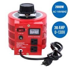 Ridgeyard Transformer Variable Ac Voltage Regulator 2000w Metered 0130v 20amp