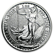 2016 Great Britain 1 oz Silver Britannia BU - SKU #93738