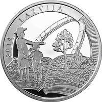 Lettland 5 Euro Silbermünze 2014 PP Old Stenders , Gotthard Friedrich Stender
