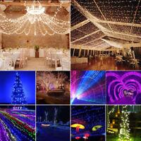 100 200 300 400 600 LED Lichterkette Außen Innen Garten Beleuchtung Party Dekor