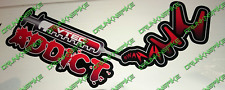 VTEC ADDICT NEEDLE STICKER HONDA CIVIC TYPE R EP3 FN2 FK2 FK8 FUNNY CHOPPED