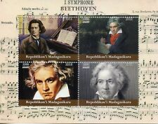 Madagascar 2018 MNH Beethoven 4v M/S Music Composers Stamps