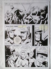 A L'ARME BLANCHE  SPECTACULAIRE PLANCHE GEANTE ELVIFRANCE  PAGE FIN