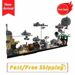 MOC SW Wars Scene Skyline Architectur Model Building Blocks Bricks Assembel Toys