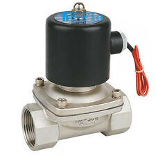 """24VDC 3/4"""" BSPP Stainless Steel 304 Normally Closed Electric Solenoid Valve"""