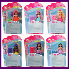 Barbie Mega Bloks Set of 6 Dolls 36 Pcs. Princess Fairy Mermaid New Block Toy