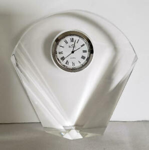 Crystal Clock by Badash Crystal, Engrave-able, Gift Boxed w/FREE EXTRA Battery