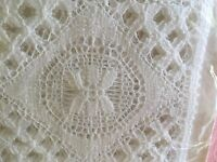 Vintage genuine Nottingham Leavers Lace set 4 coasters still in original packet