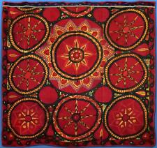 RARE THE 19TH CENTURY ANTIQUE UZBEK SILK HAND-EMBROIDERY SUZANI TASHKENT T1038