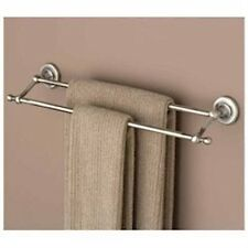 Hafele Voga British Bath Double Towel Bar Satin Antique Silver