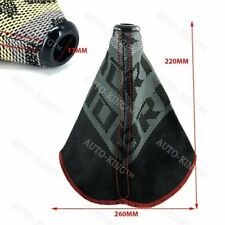 Racing Hyper Fabric shift knob Shifter Boot Cover MT/AT Red Stitches JDM Bride