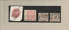 Pr Vor / WIRSITZ Ra2 auf Briefstück Pr. 16, Briefstück NDP 16, D3 + D5, feinst-P