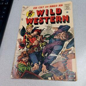 Wild Western #54 Atlas Comics 1957 Silver Age Kid Colt Cover Two Gun joe maneely