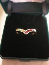 Wedding Natural Ruby Yellow Gold Fine Rings