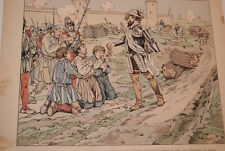 JOB- HENRI IV GRAVURE DESSIN  HERMANT 1894 SIEGE DE PARIS FAMINE