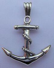 Argento Sterling (925) Nave Ancora Ciondolo Nuovo