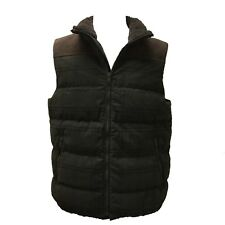 Coach 83899 Men's Fatigue Tattersall Plaid Leather Trim Down Vest