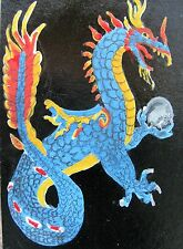 "A479  ORIGINAL ACRYLIC ACEO PAINTING BY LJH  ""DRAGON''"