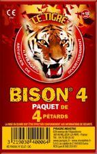 TIGRE BISON 16 GROS PÉTARDS A MÈCHE . 4 quatre paquets de 4 Demon Mammouth