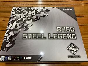 LIKE NEW - ASRock B460 Steel Legend LGA1200 ATX Motherboard