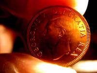 1950 Canada BU Penny From Mint Roll.