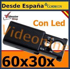 LUPA 60X 30X LUZ LED / UV JOYERIA BILLETES MONEDAS RELOJERO INSECTOS SELLOS