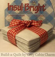 "12 ~ 7"" Insul-Bright Insulated POTHOLDER Lining Batting Fabric Squares"