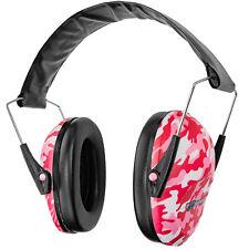 Boomstick Folding Ear Muff Safe Hearing Noise Protection Gun Shooting Pink Camo